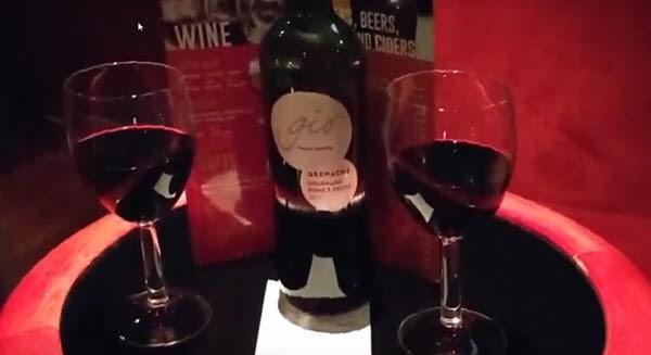 Enjoying a nice bottle of wine on the Amsterdam mini-cruise