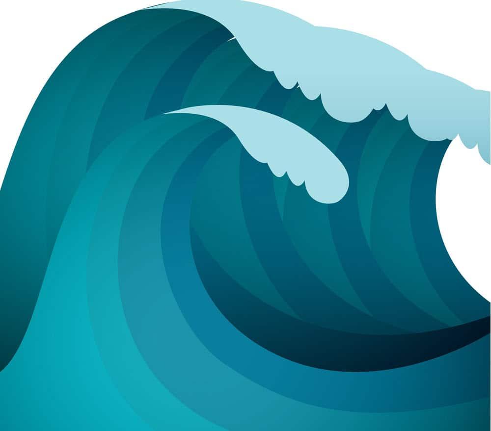 Seawater splash from lifeboat