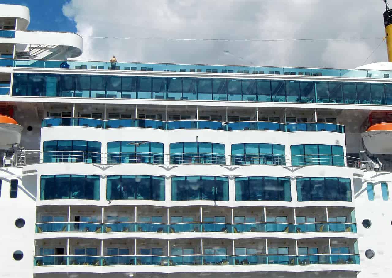 Balcony cabins on a cruise ship